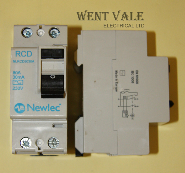 Newlec NLRCD8030A - 80A 30mA Double Pole RCD Used
